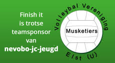 Finish it Sponsort de volleybal vereniging de Musketiers