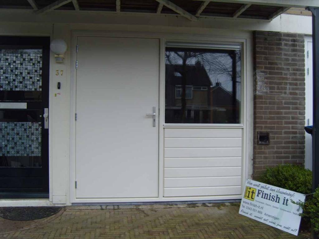 Favoriete Finish it - Garagedeur vervangen door kozijn met deur en glas DC74